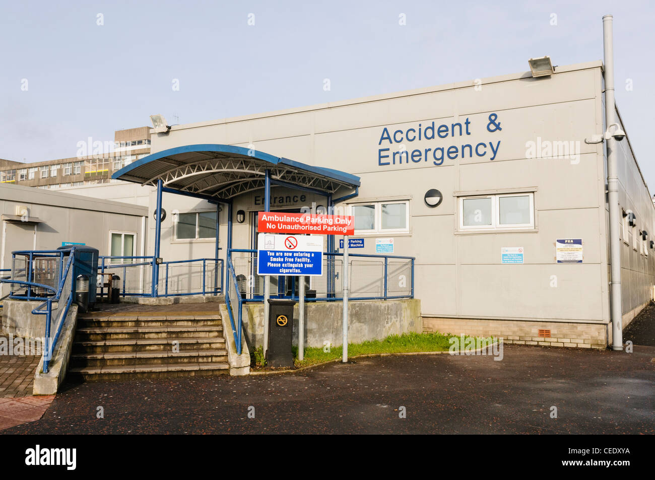 Accident and Emergency Department at the Ulster Hospital, Dundonald - Stock Image