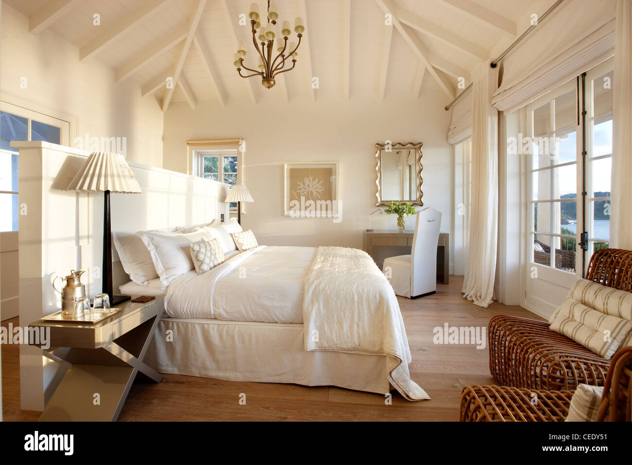 sunrise bedroom master suite - Stock Image