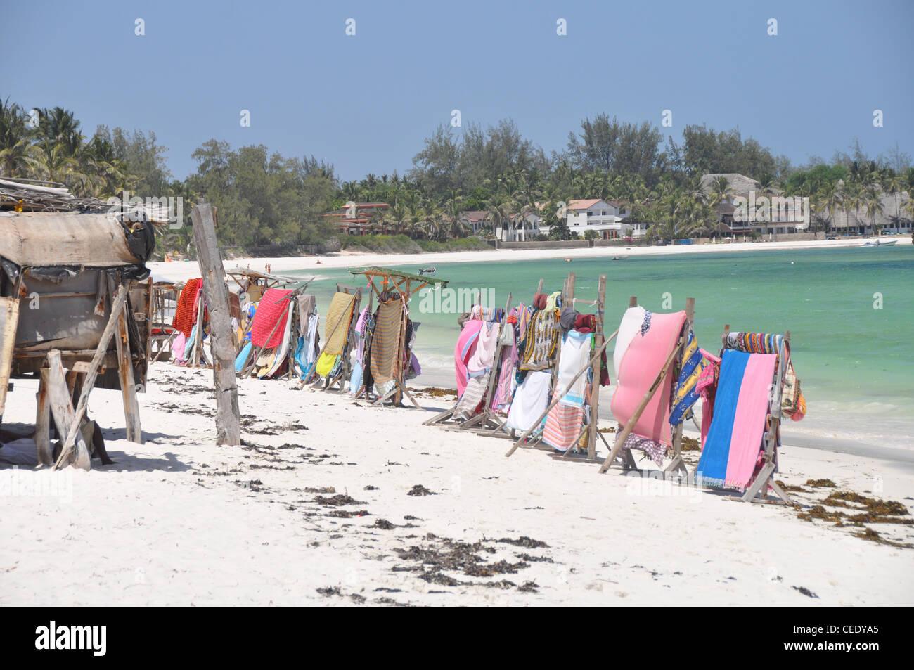 African beach market - Stock Image