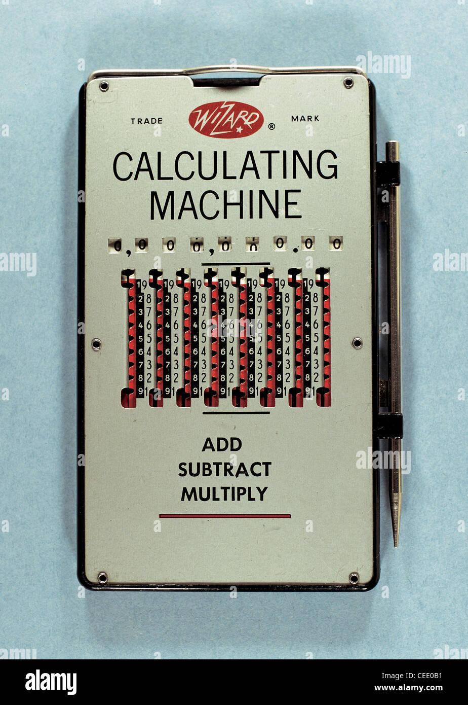 Wizard calculating machine. - Stock Image