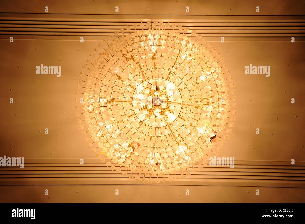 Chandelier light - Stock Image