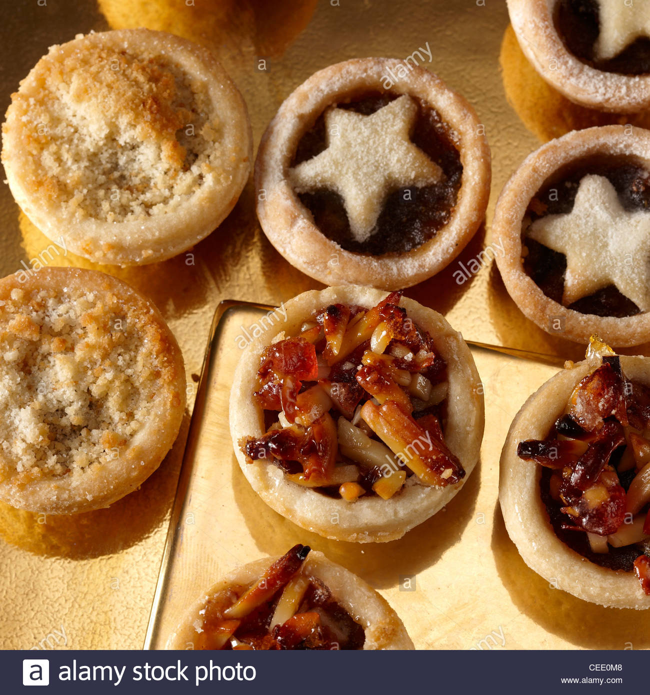 selection mini mince pies - Stock Image