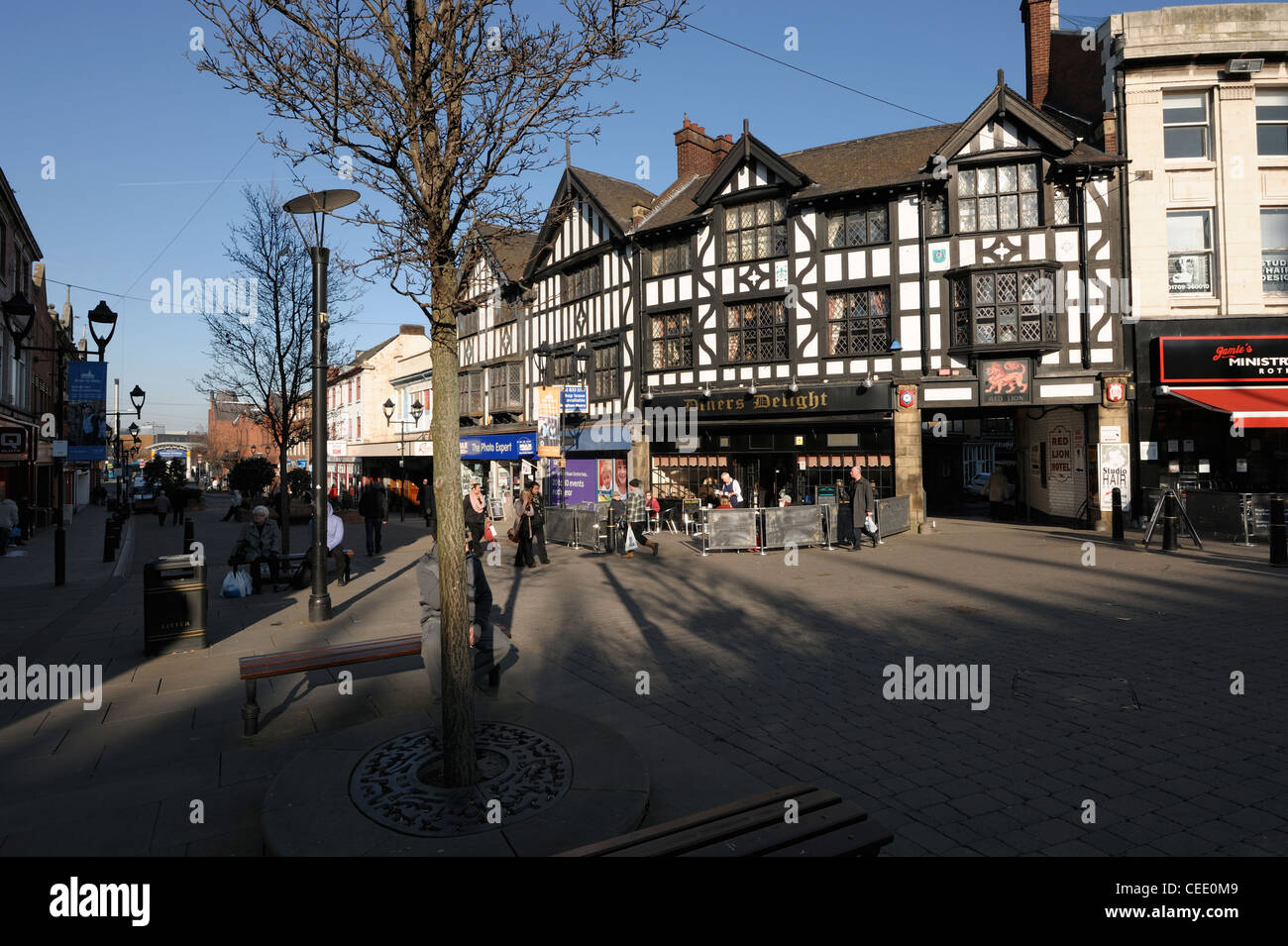 Rotherham town centre shops - Stock Image