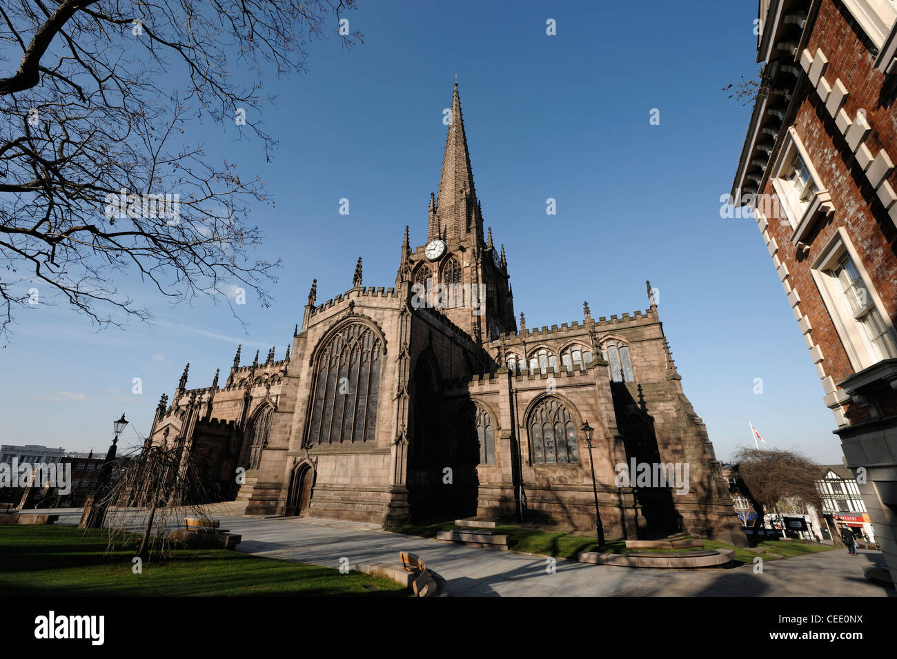 Rotherham Minster All Saints Church Rotherham town centre - Stock Image