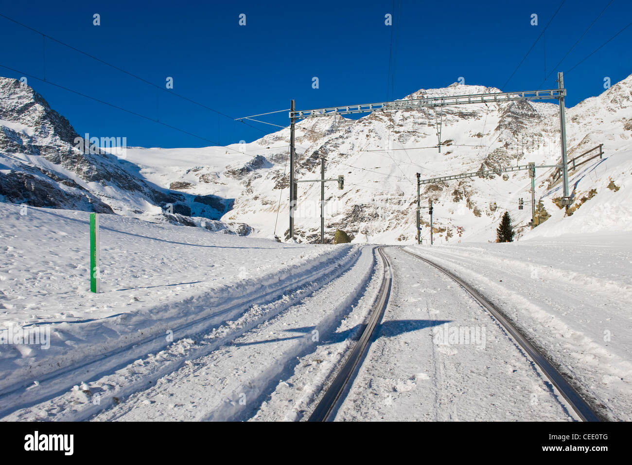 Alp Grum, Bernina express, Switzerland - Stock Image