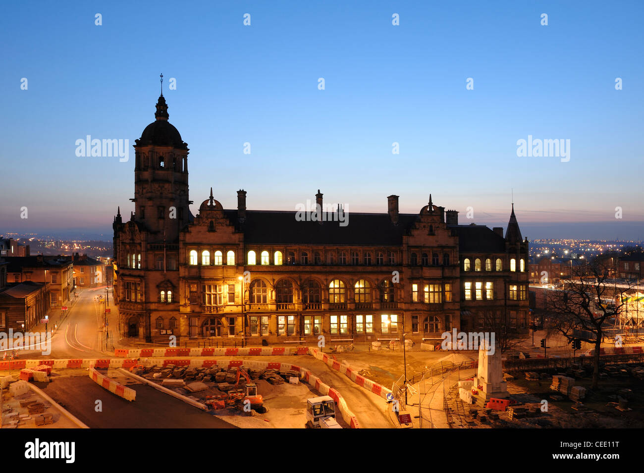 Wakefield County Hall - Stock Image
