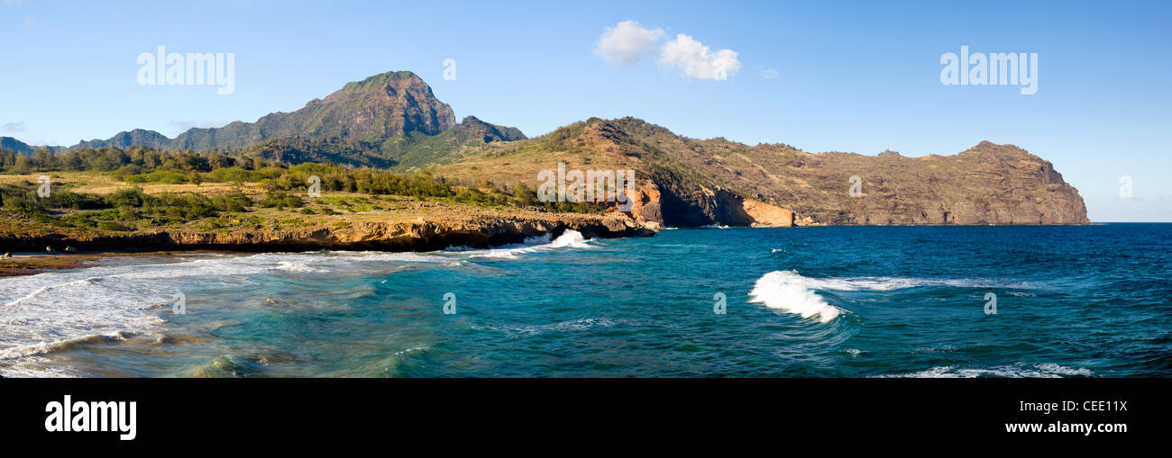 Mahaulepu beach near Poipu on south coast of Kauai, Hawaii, USA - Stock Image