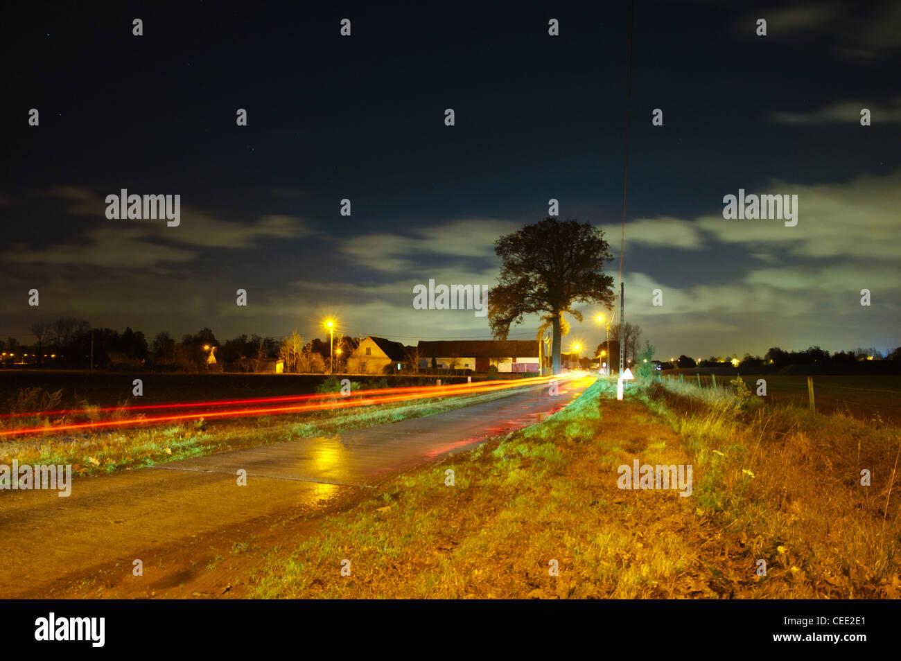 Nicht Scenery in a village in Flanders - Stock Image