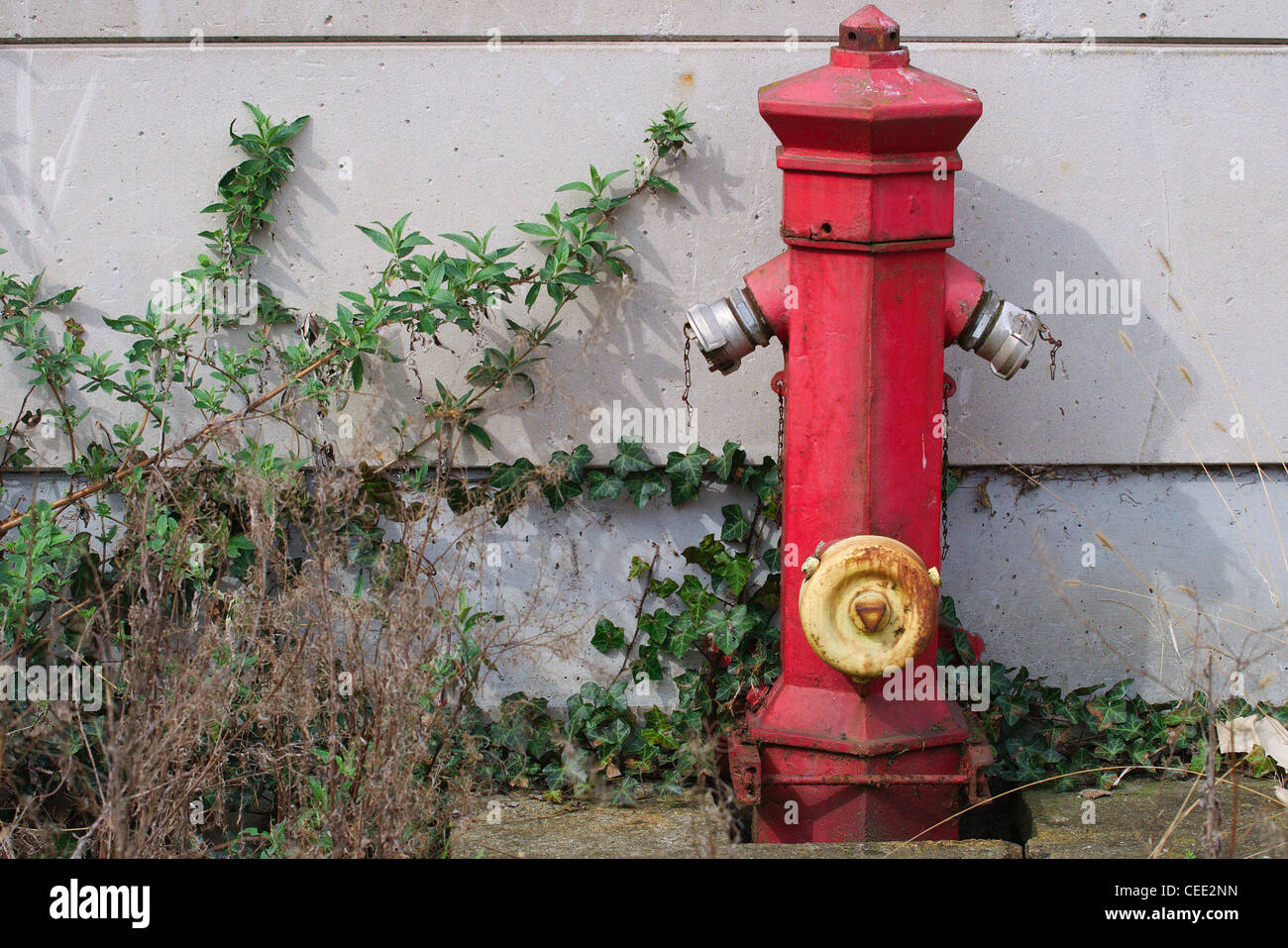 Waterpoint for firebrigade out of order - Stock Image