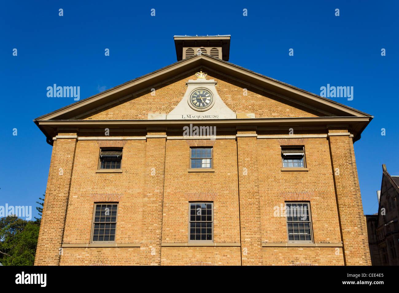 Hyde Park Barracks, Sydney, Australia - Stock Image