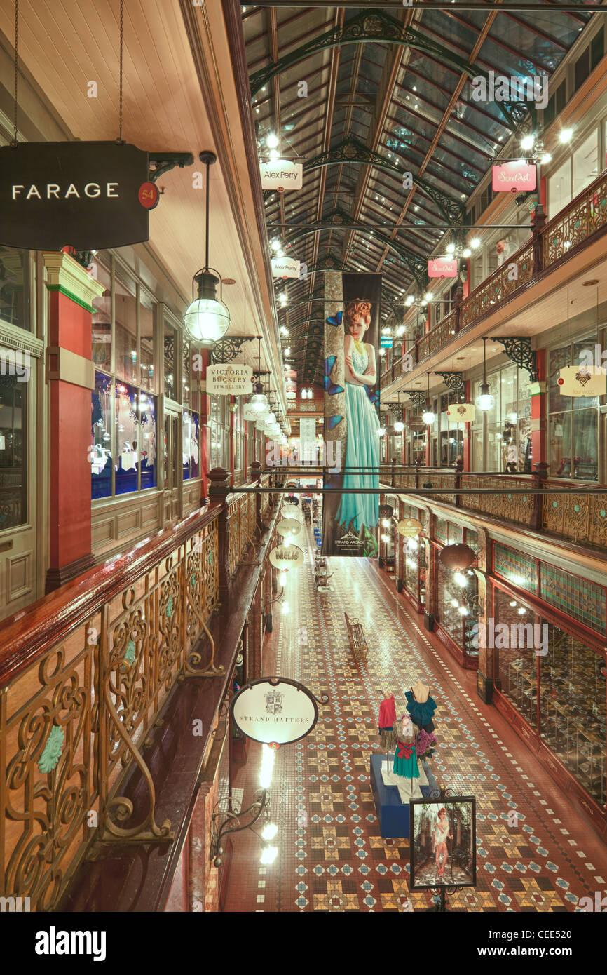 The Strand Arcade, Sydney, Australia - Stock Image