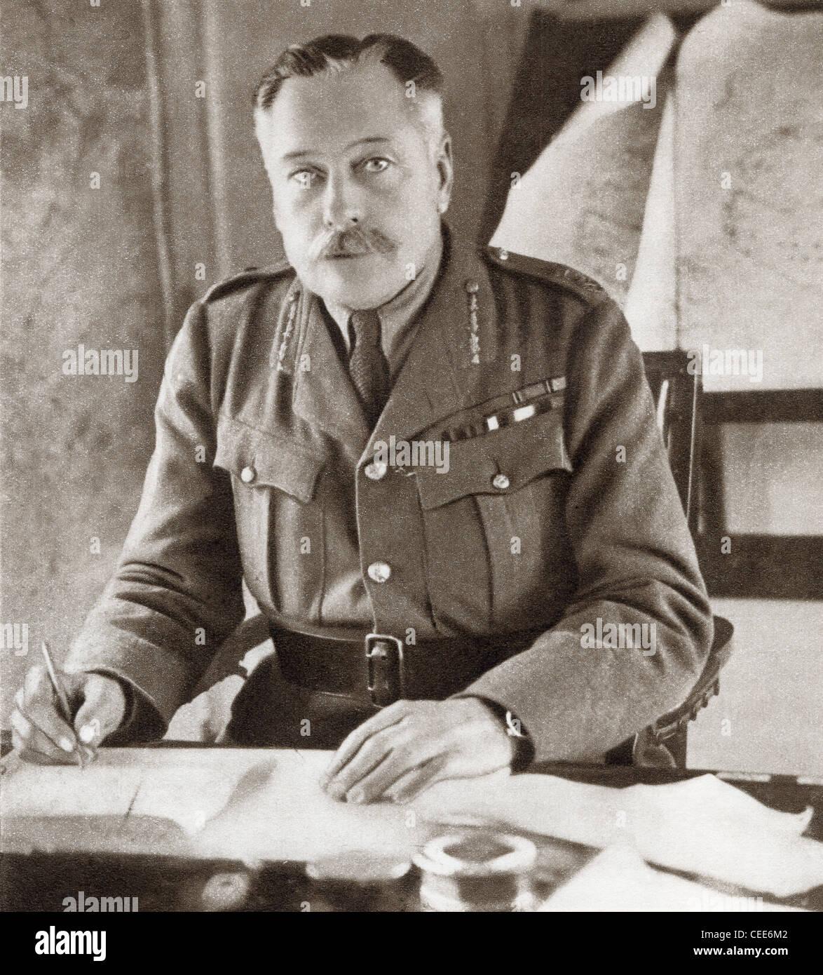 Field Marshal Douglas Haig, 1st Earl Haig, 1861 – 1928. British senior officer during World War I. Stock Photo
