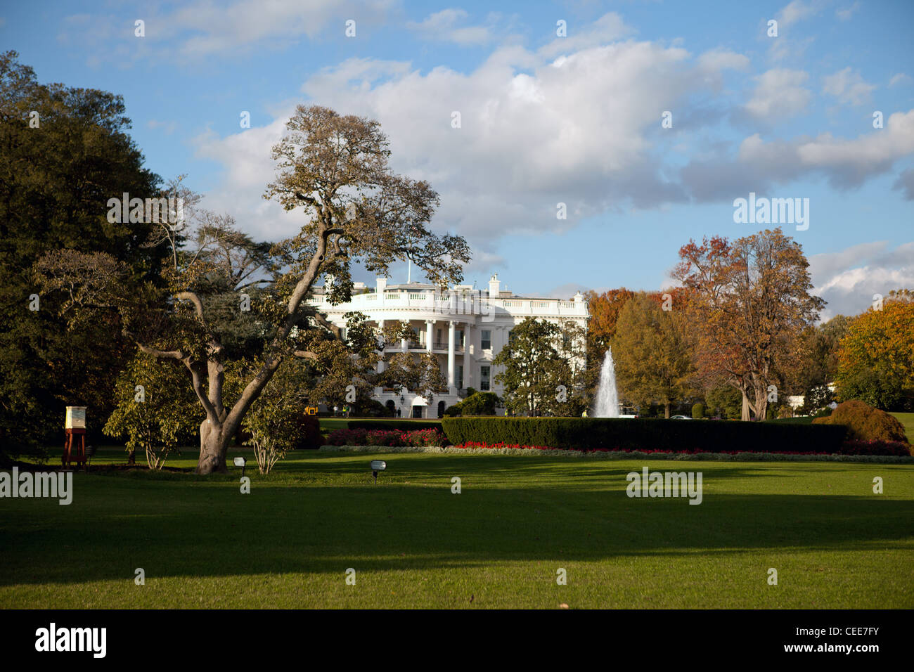 A view of the White House in Washington, DC Stock Photo