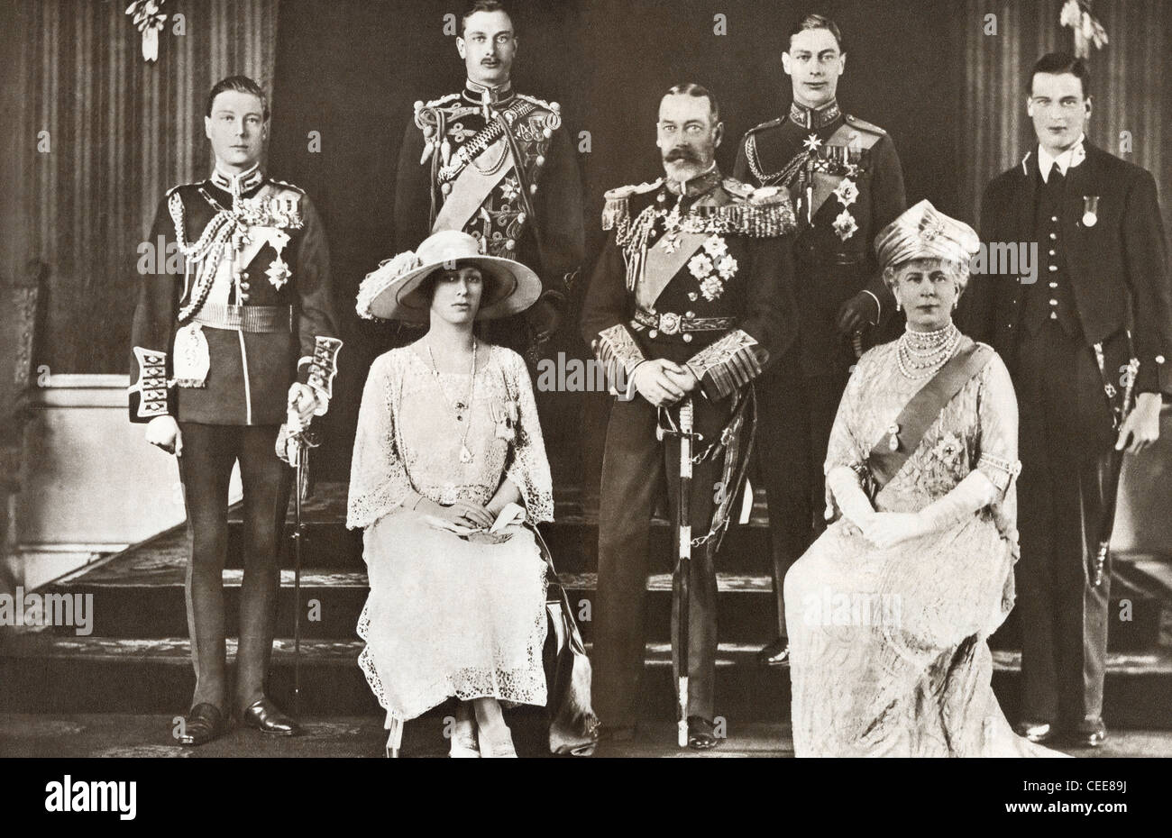 Fuente Kings And Queens: British Royal Family Stock Photos & British Royal Family