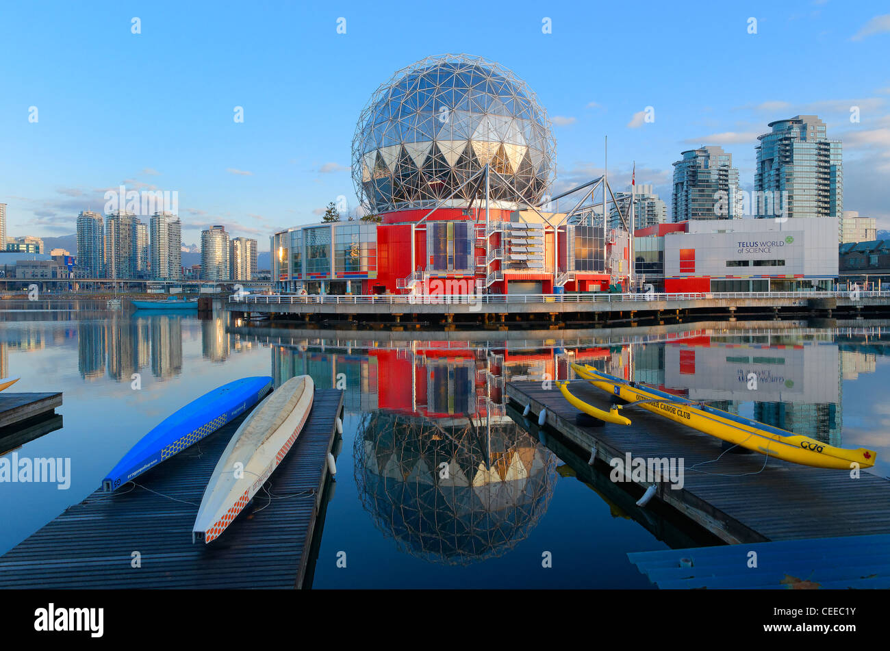 World of Science, False Creek, Vancouver British Columbia, Canada - Stock Image