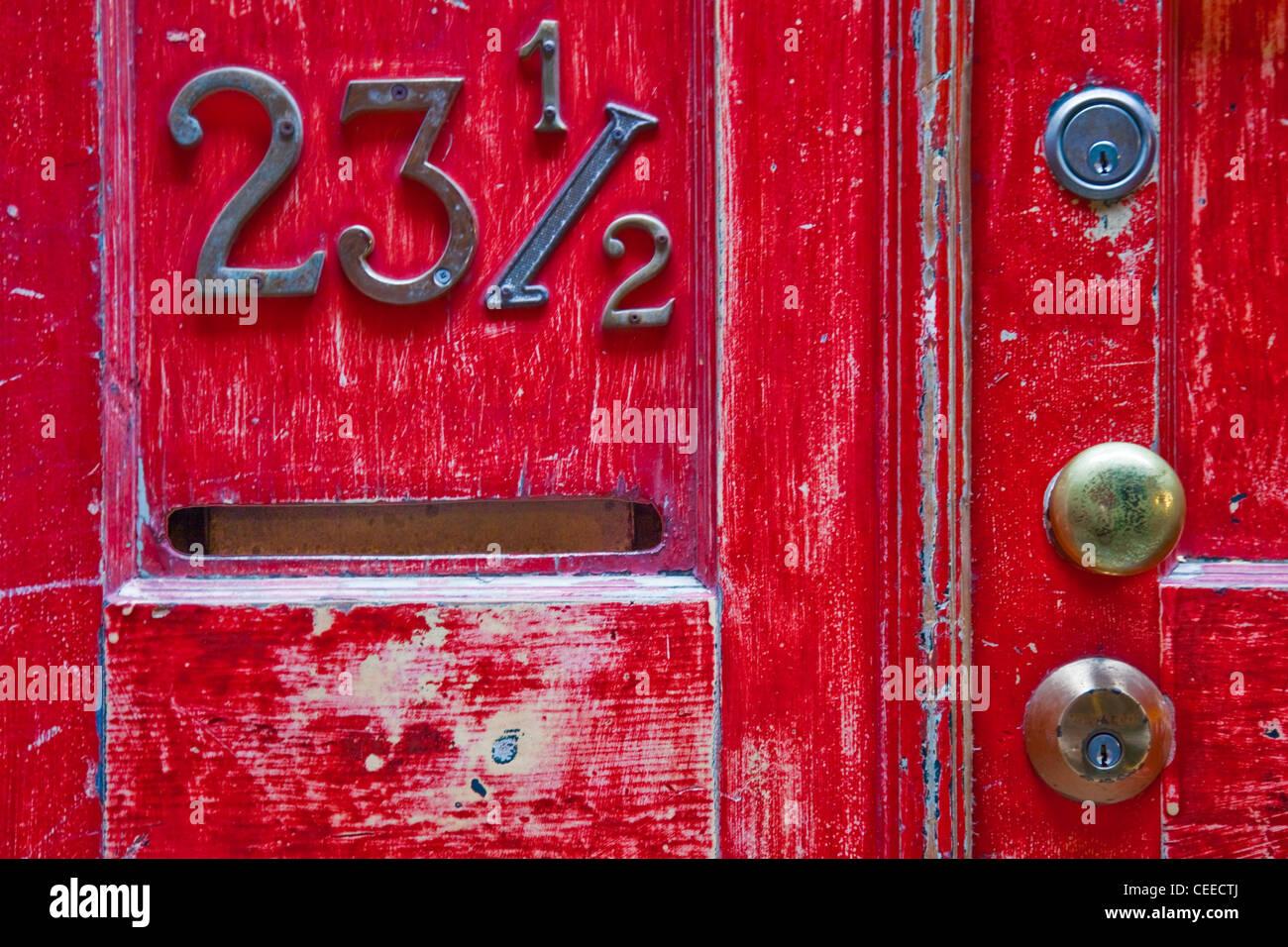 A unique address in Chinatown, Victoria, British Columbia, Canada Stock Photo
