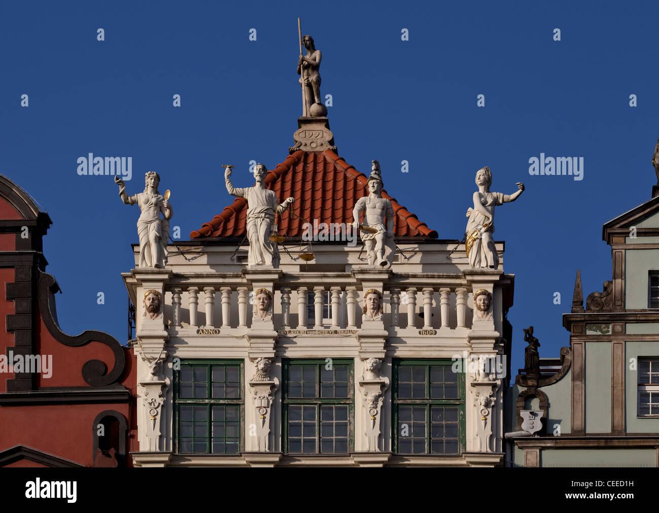 Gdansk/Danzig, Goldenes Haus - Stock Image