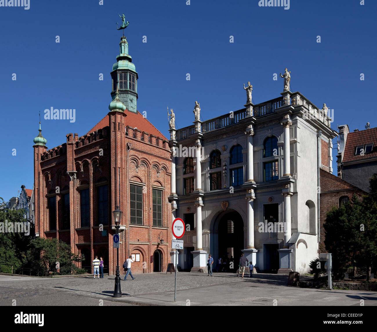 Gdansk/Danzig, Goldenes Tor - Stock Image