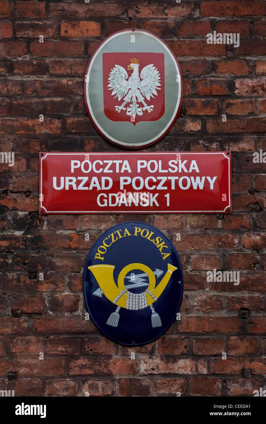 Danzig/Gdansk, POLNISCHE POST - Stock Image