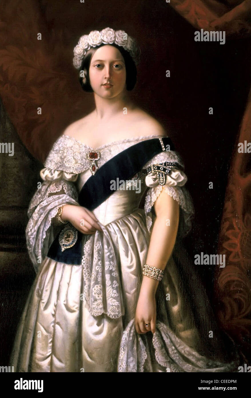 Arthur Melville Portrait of Queen Victoria - Stock Image