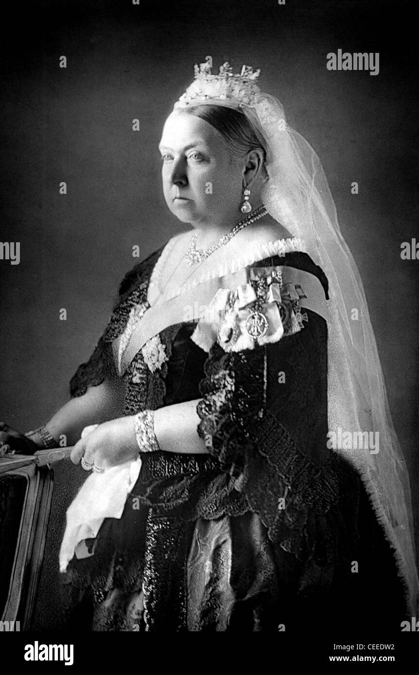 Queen Victoria photografic portrait - Stock Image