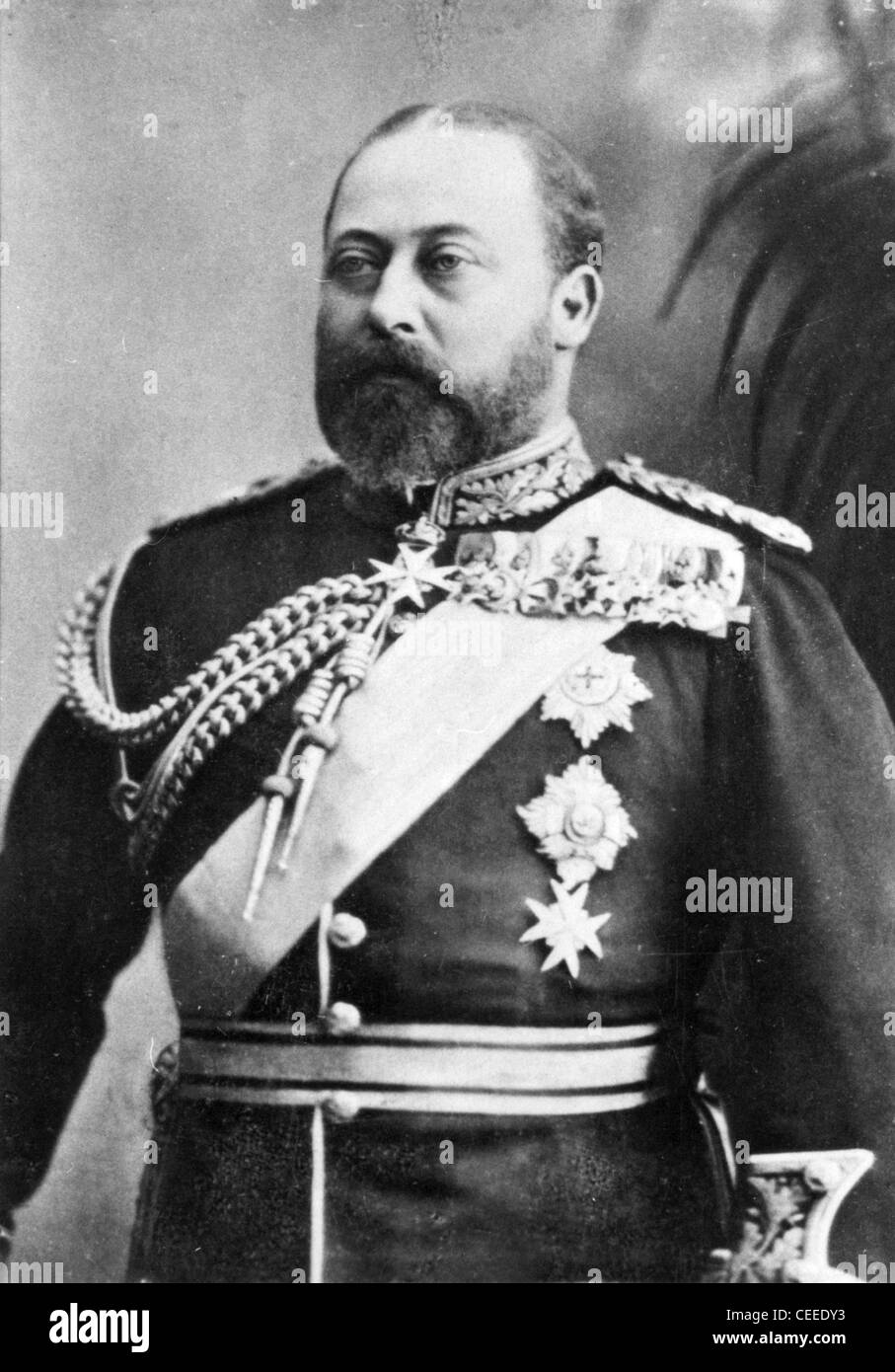 Edward VII king of Great Britain from 1901 - Stock Image