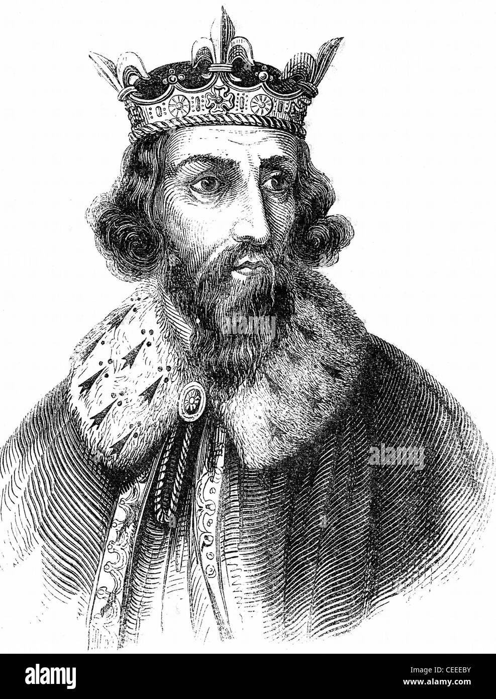 Alfred the Great Anglo-Saxon king of Wessex from 871 - Stock Image