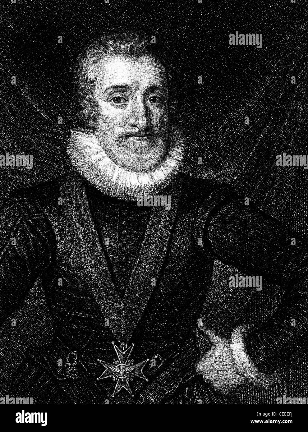 Henry IV King of Navarre and king of France - Stock Image