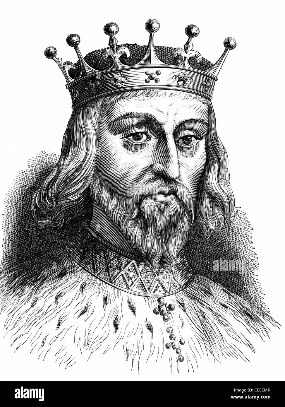 Henry II king of England from 1154 - Stock Image