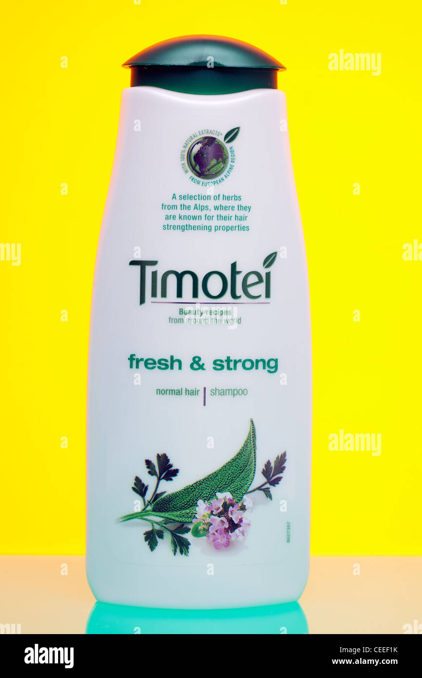Container of Timotei normal hair shampoo - Stock Image