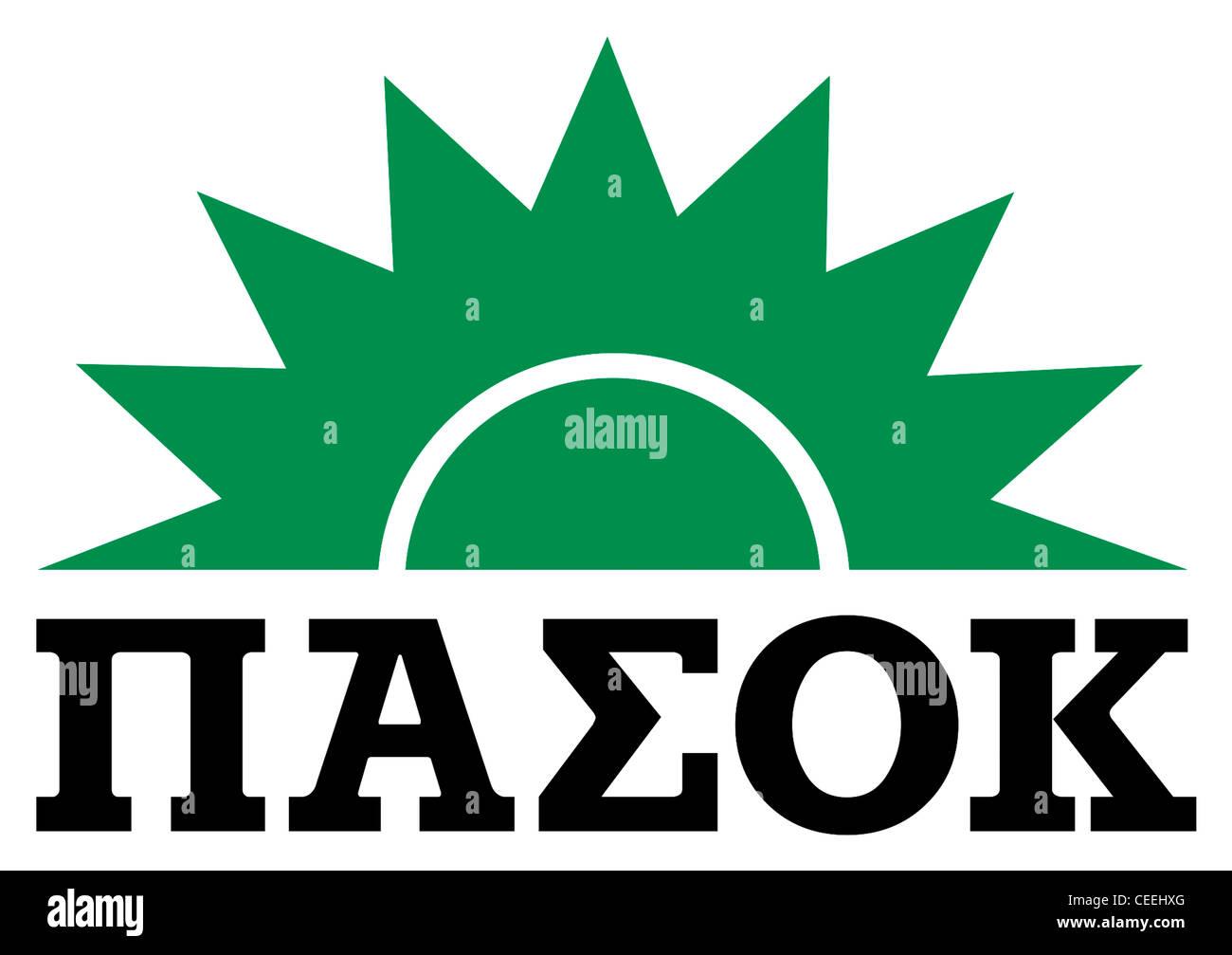 Logo the Greek Panhellenic Socialist Movement PASOK. - Stock Image