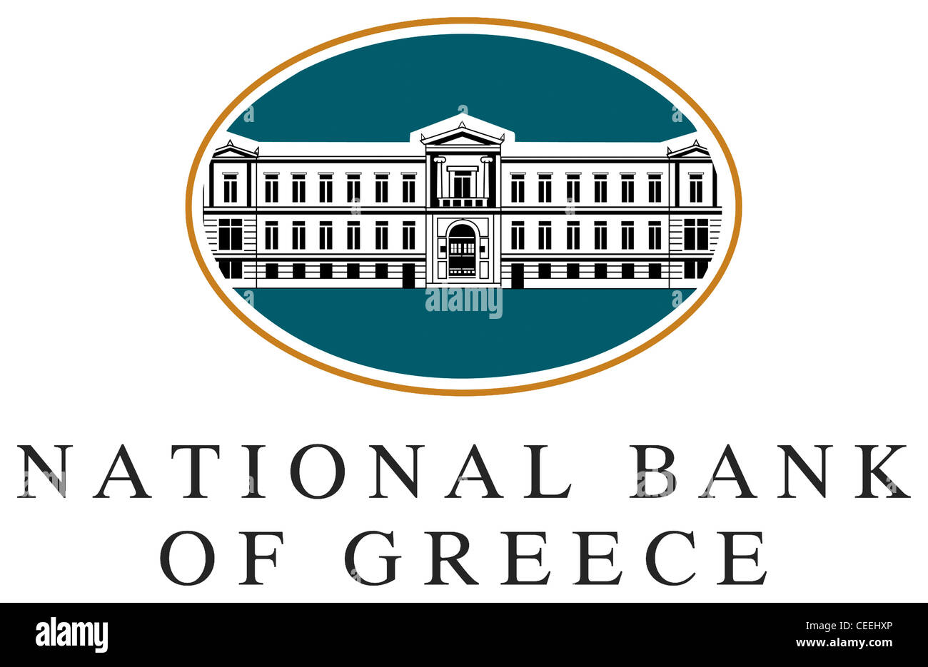 Logo of the National Bank of Greece NBG with seat in Athens. - Stock Image