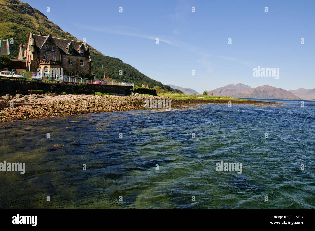Ballachulish Bridge,Hotel,Loch Glencoe, Highlands,Scotland - Stock Image
