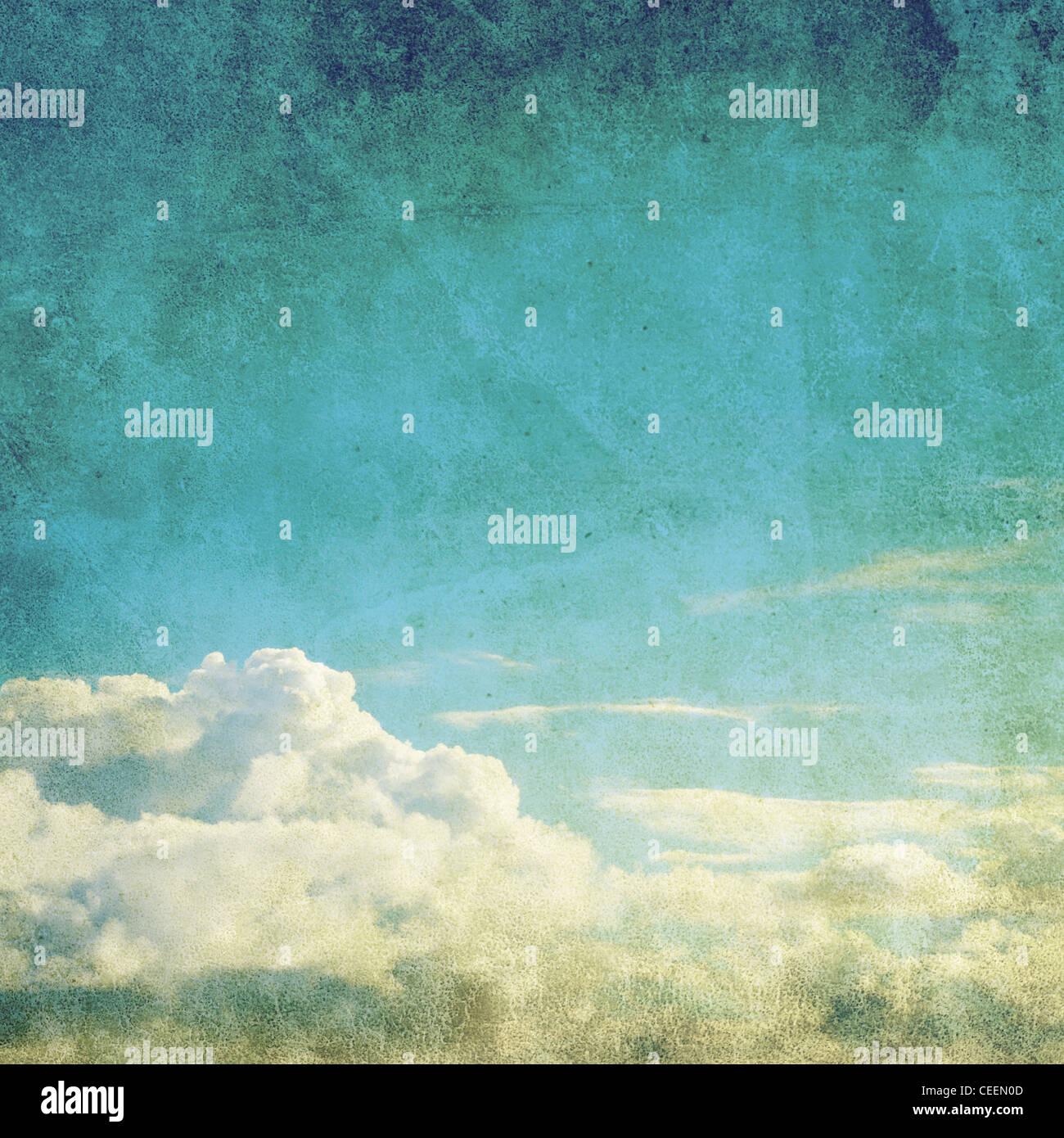 retro sky photo - Stock Image