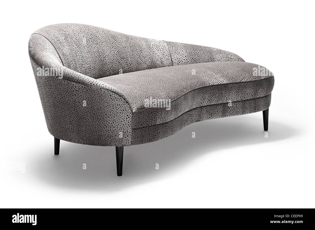 Rounded chaise - Stock Image