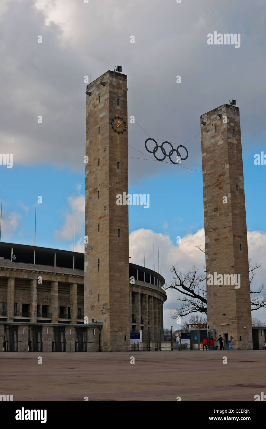 Berlin: The Olympiastadion,  Olympic Stadium in Charlottenburg - Stock Image