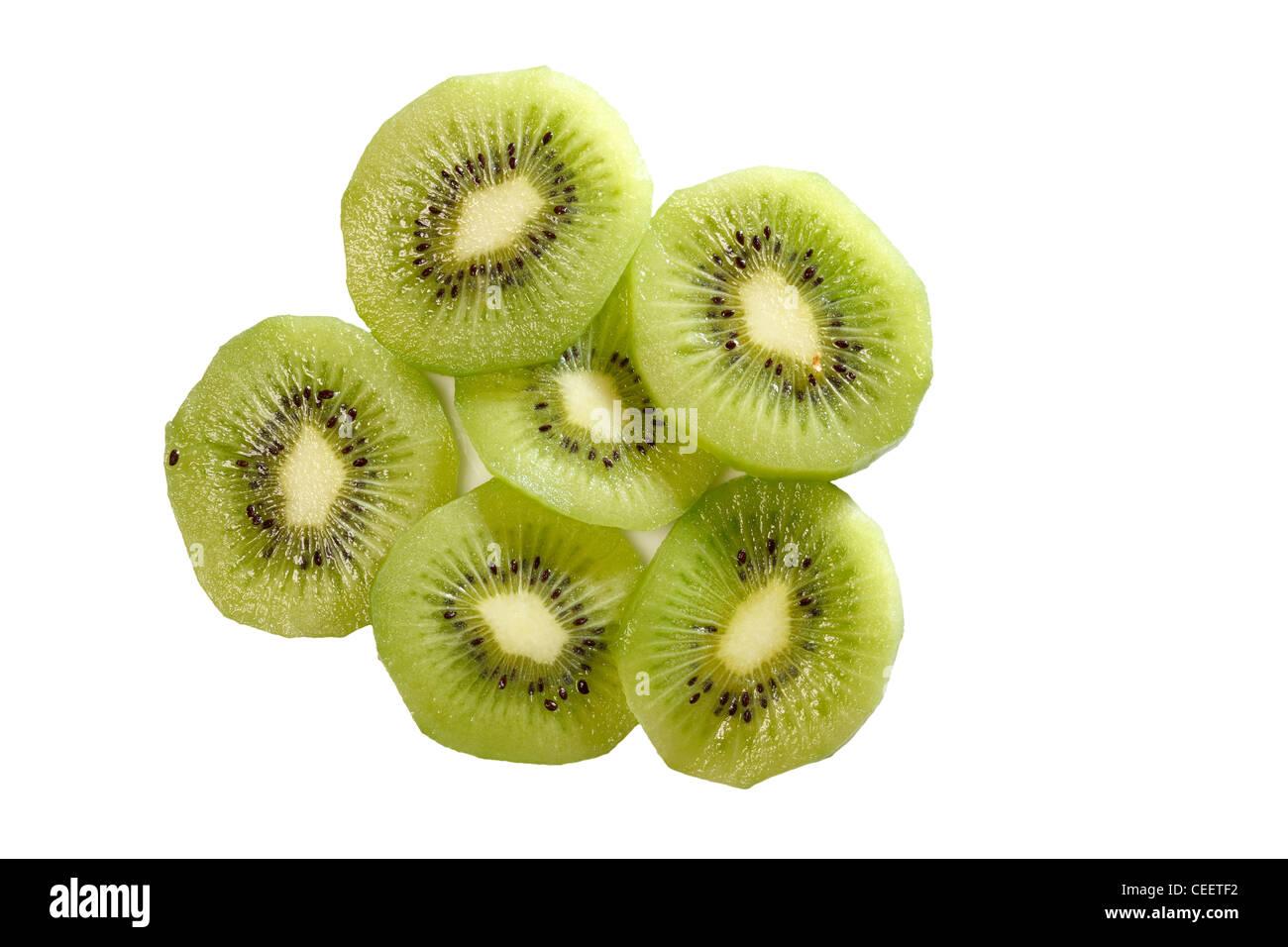 Kiwi Fruit Slices - Stock Image