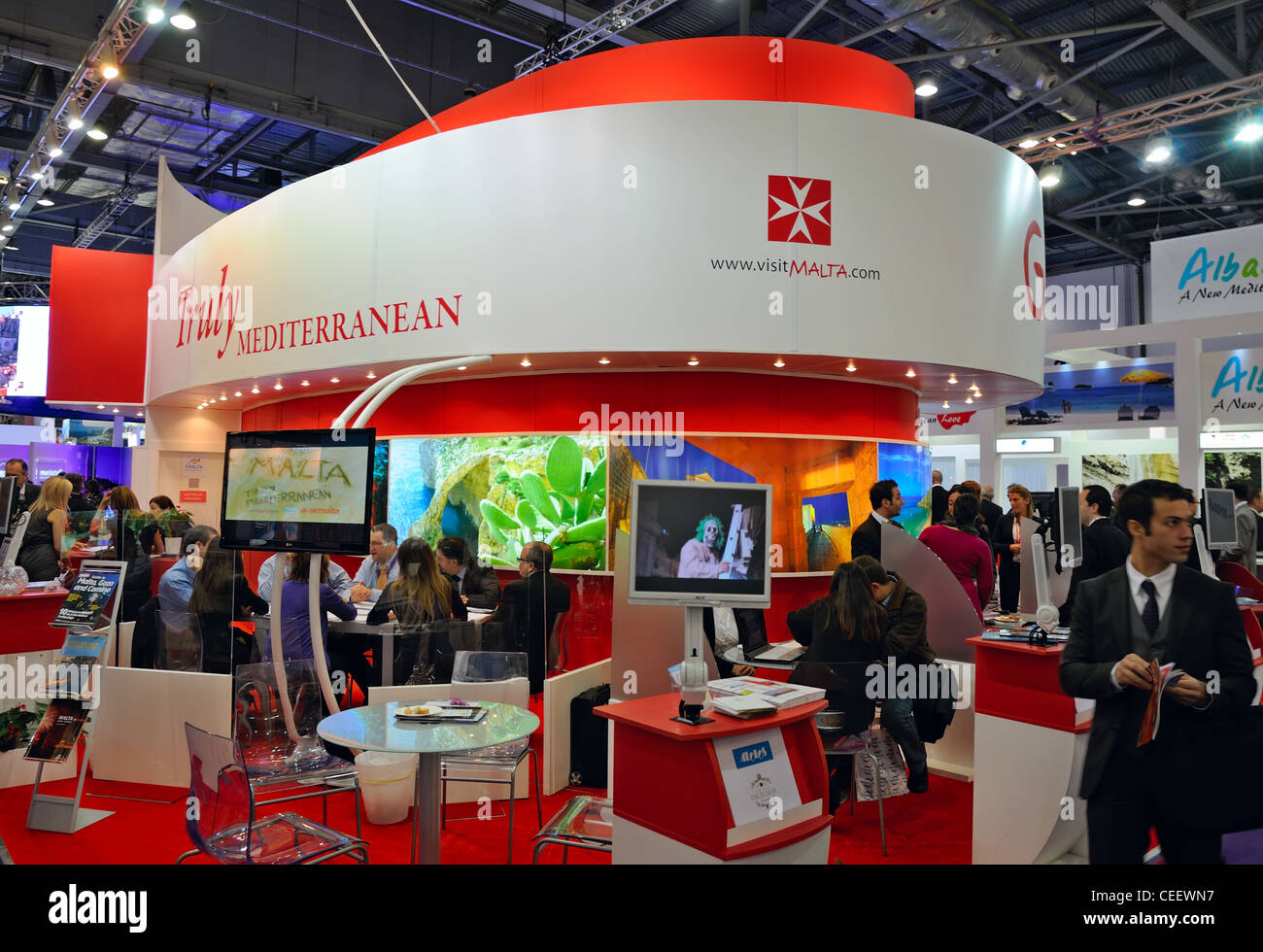 London: 'World Travel Market' exhibition, Excel - Stock Image