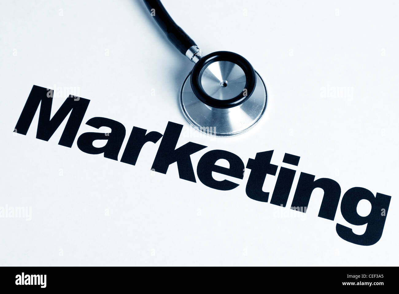 Stethoscope and Marketing Report, concept of business - Stock Image