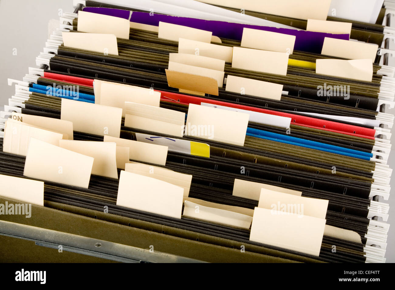 Hanging Folder and label, business concept - Stock Image