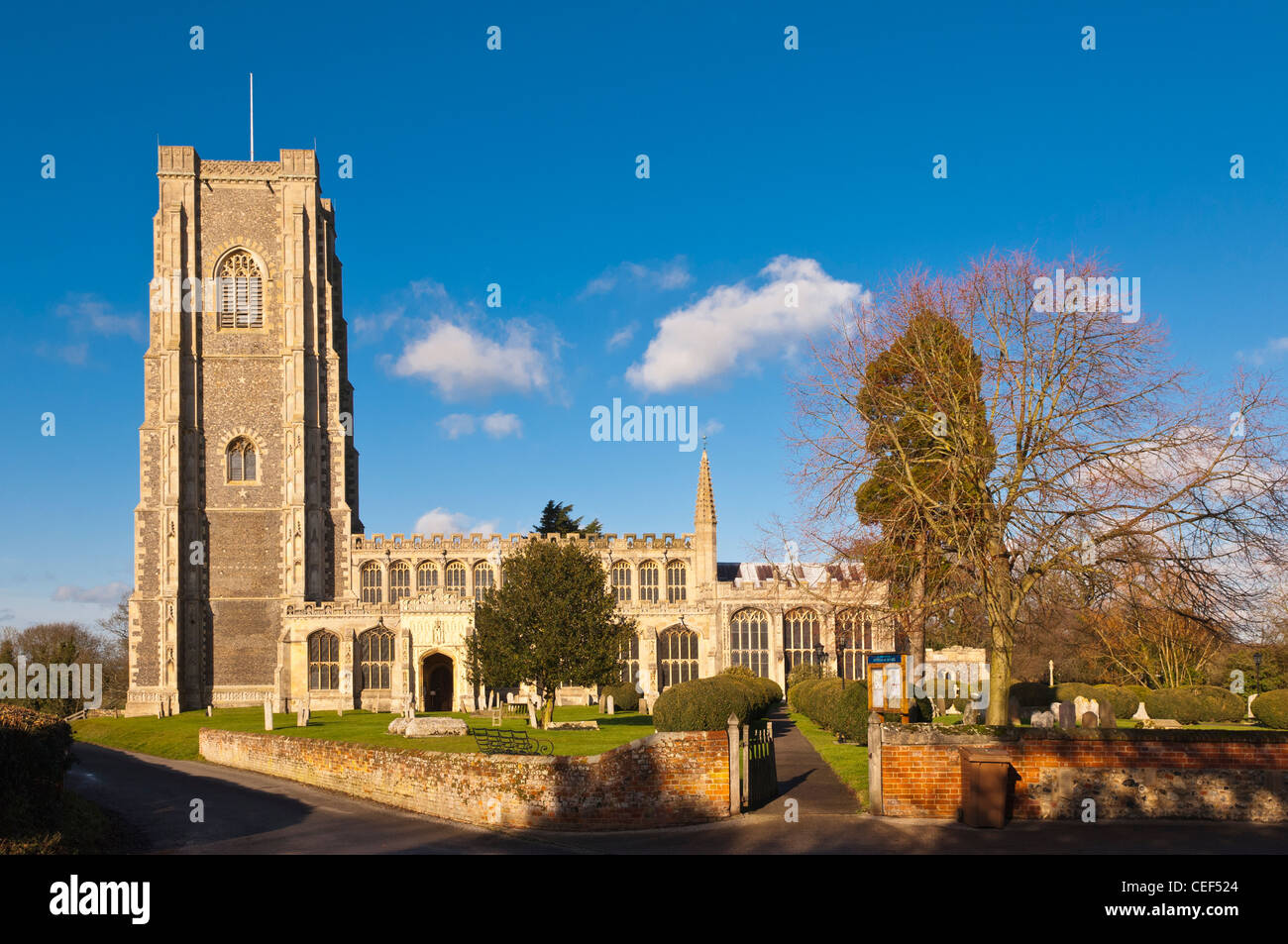 The parish church of St. Peter and St. Paul in Lavenham , Suffolk, England , Britain , Uk - Stock Image