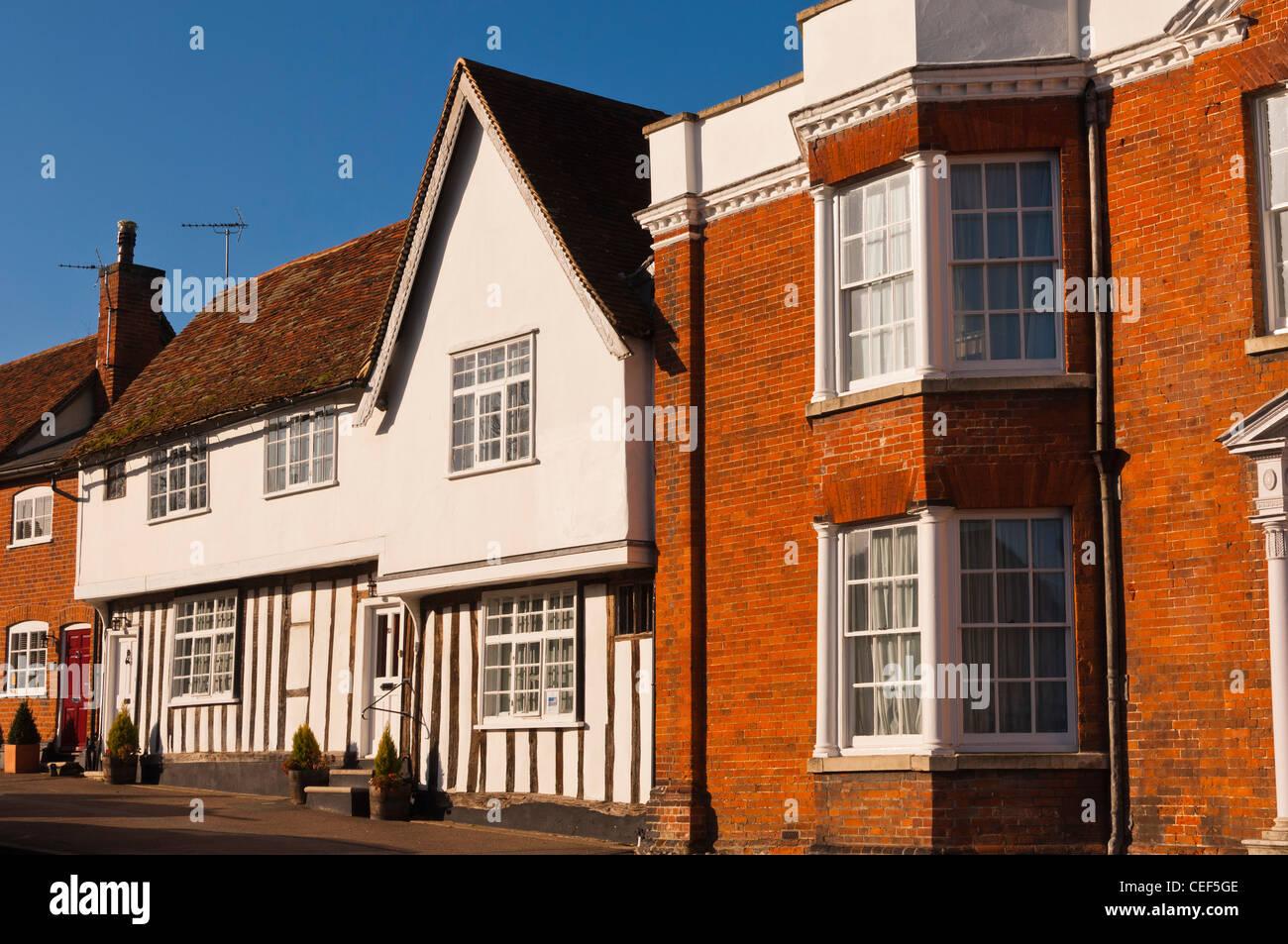 A Tudor house in Lavenham , Suffolk, England , Britain , Uk - Stock Image