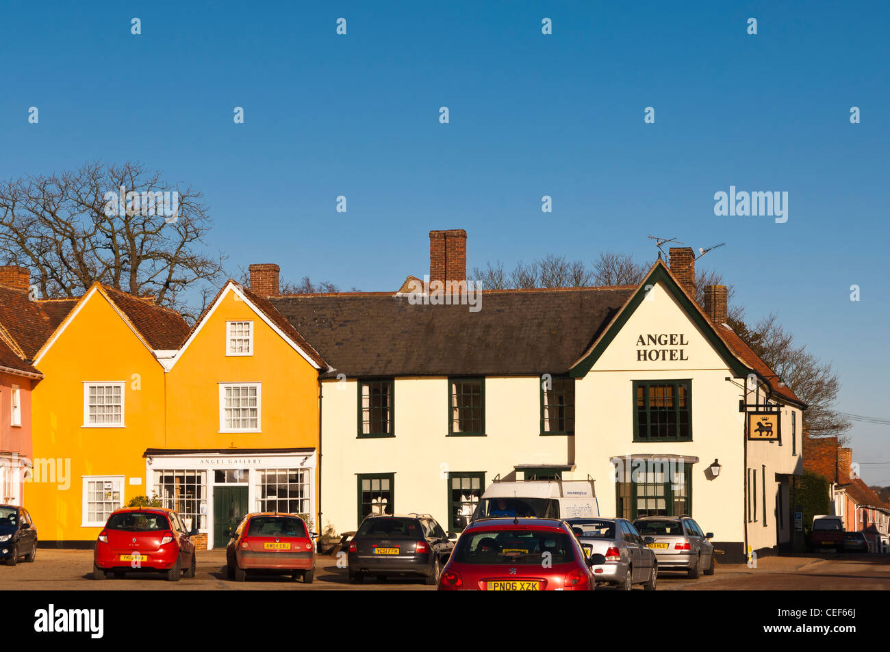 The Angel Hotel in Lavenham , Suffolk, England , Britain , Uk Stock Photo