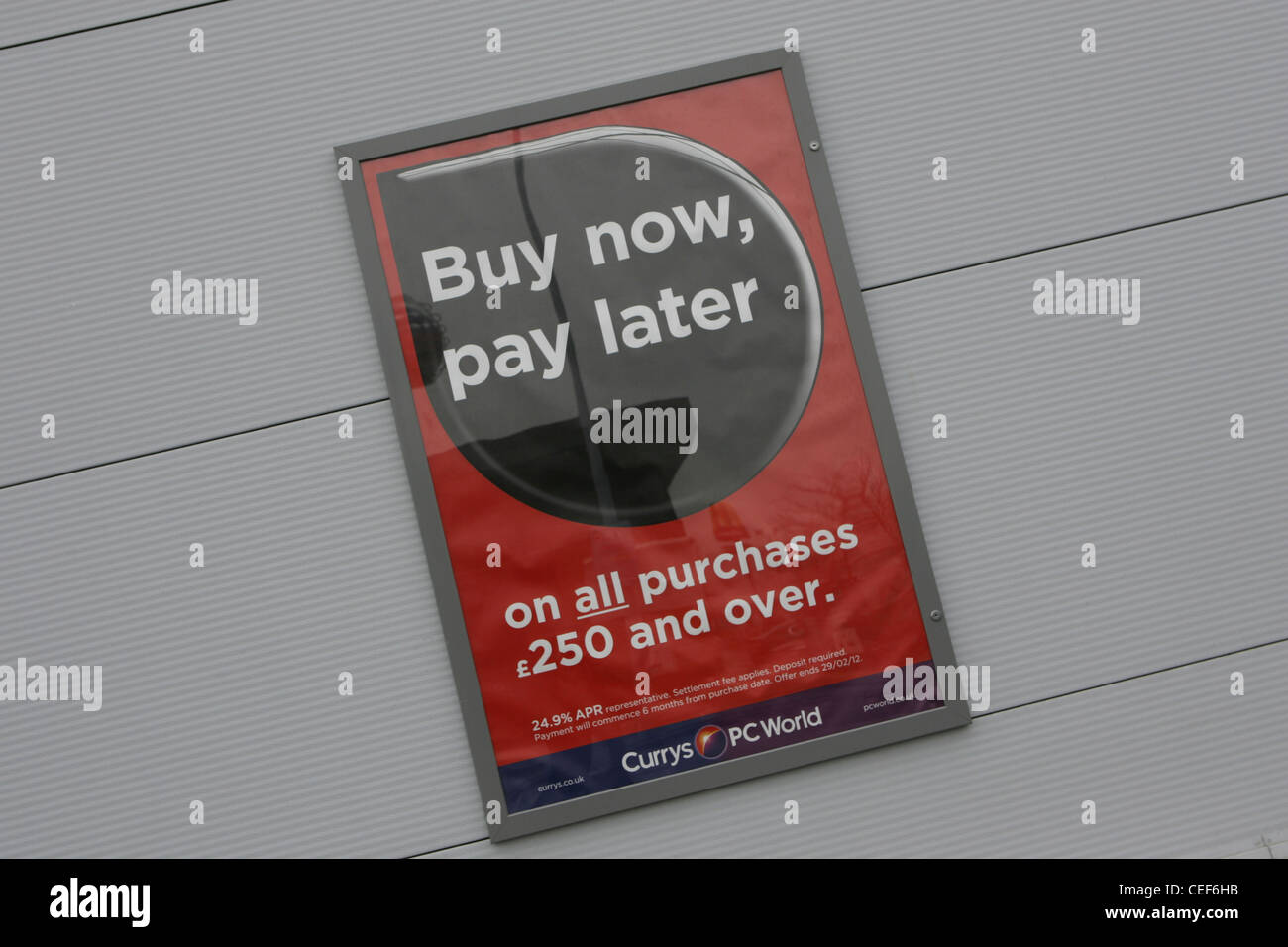 buy now pay later, dixons, currys, pcworld - Stock Image