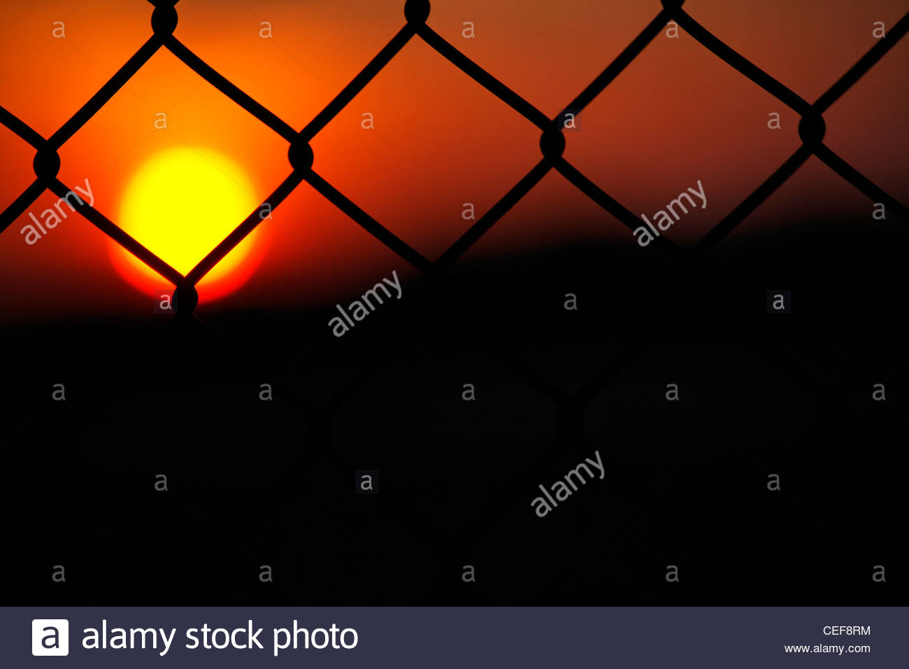 Fence In Silhouette Stock Photos & Fence In Silhouette Stock
