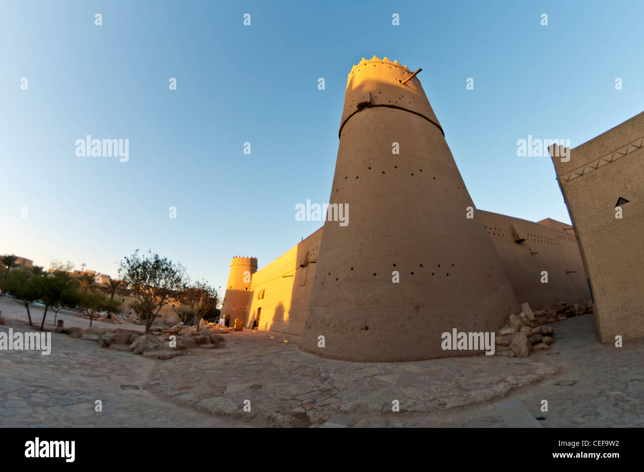 fort walls of Al-Masmak fort in Riyadh Saudi Arabia - Stock Image