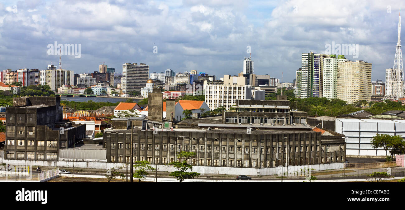 Recife Brazil Antigo Recife city scape cityscape - Stock Image