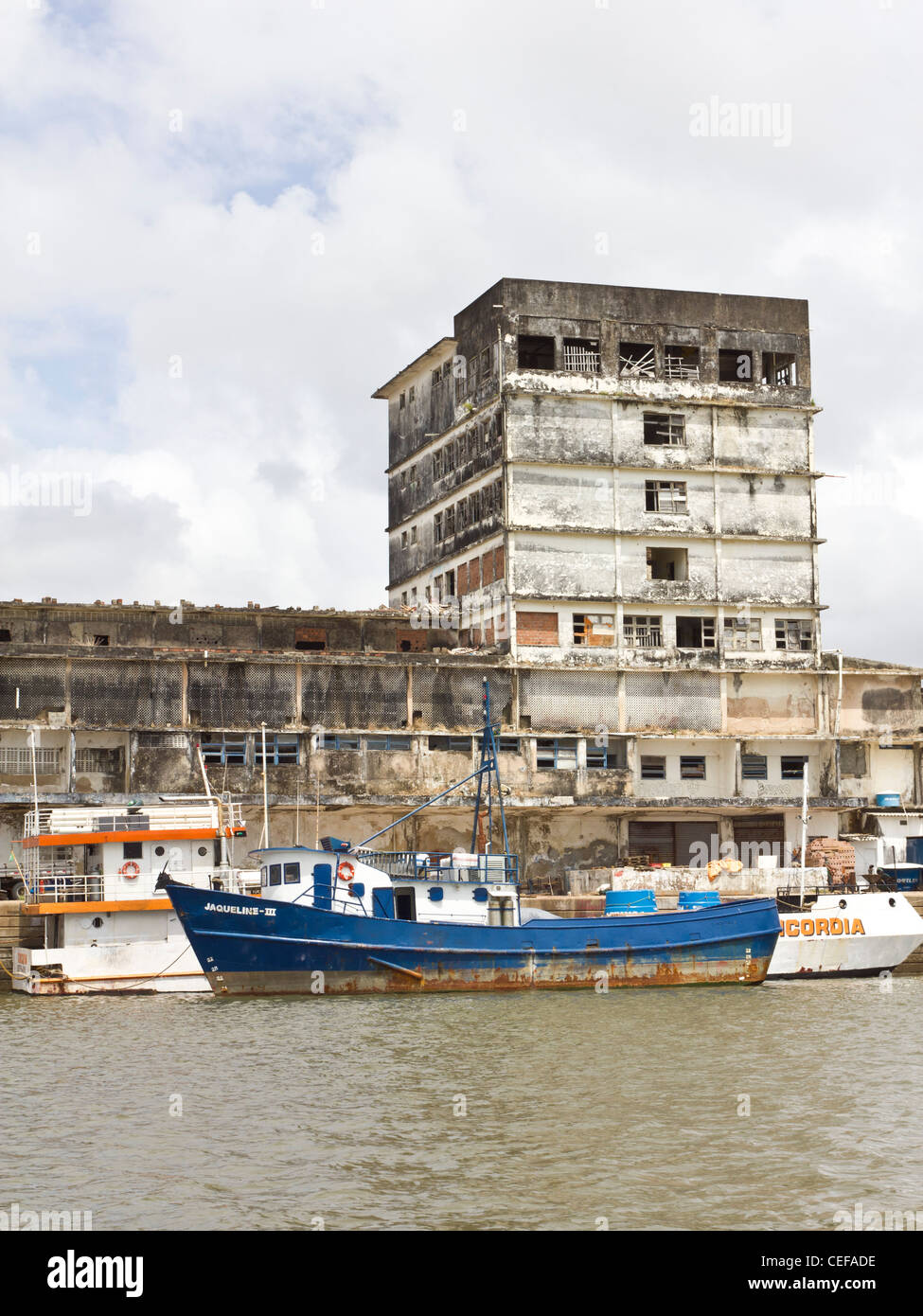 Old buildings in Recife harbour precinct. - Stock Image