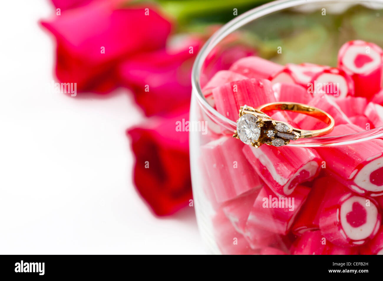 Heart Diamond Ring Stock Photos & Heart Diamond Ring Stock Images ...