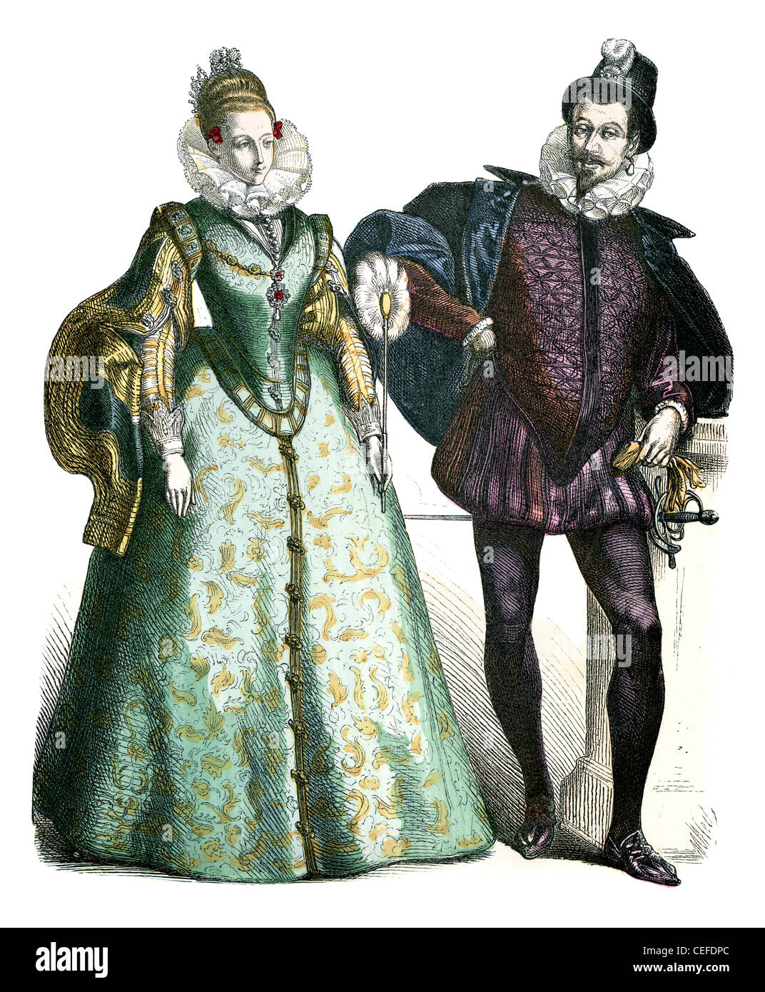 17th century womens clothing